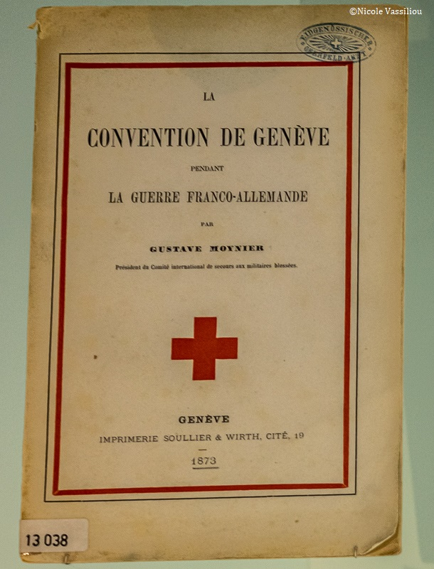 Geneva convention document found at Bourbaki Panorama published 1873.