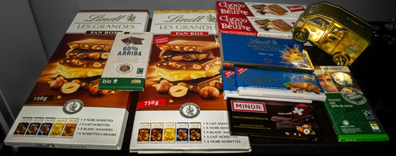 A variety of swiss chocolate brands