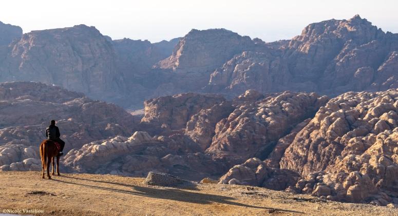 Petra-view-horse-rider