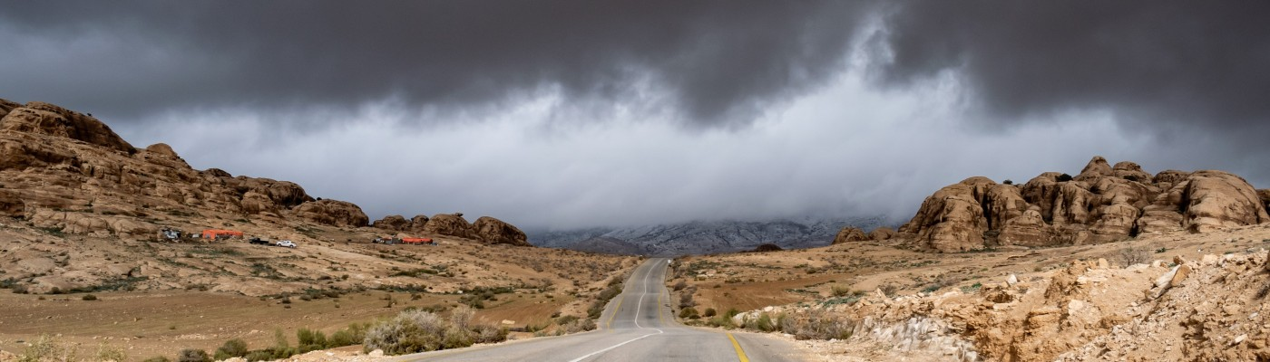 on-road-towards-storm-dry-dirt-jordan
